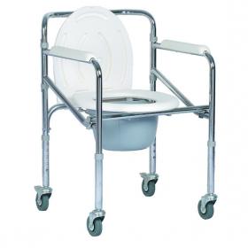 Комбиниран тоалетен стол с колелца-сгъваем