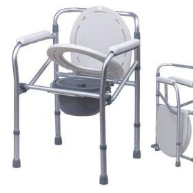 Комбиниран тоалетен стол без колелца-сгъваем