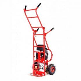 Акумулаторна количка за изкачване и сваляне на товари по стълби