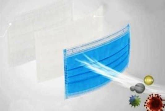 трипластова санитарна маска за лице за еднократна употреба 50 бр