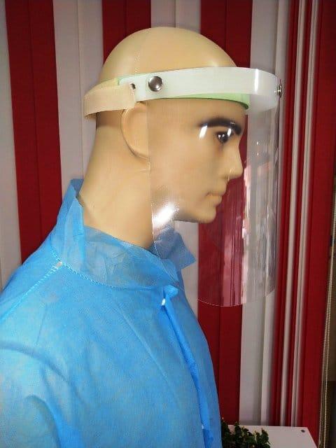 Предпазен шлем с повдигащ се визьор за многократна употреба