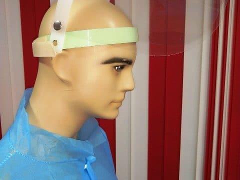 Дая Медицински Изделия Предпазен шлем с повдигащ се визьор за многократна употреба