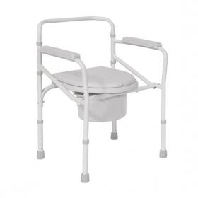 Комбиниран тоалетен стол без колелца сгъваем Мобиак