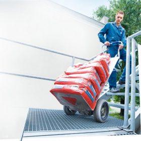 Устройства за изкачване на предмети и товари по стълби